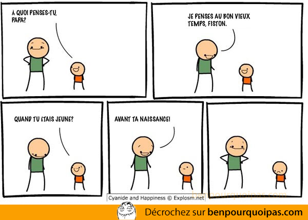ben pourquoi pas cyanide and happiness: a quoi penses tu papa