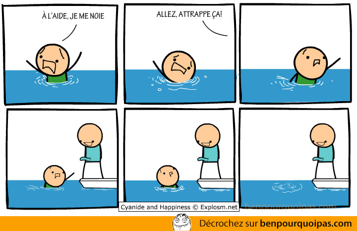ben pourquoi pas - cyanide and happiness - noyade
