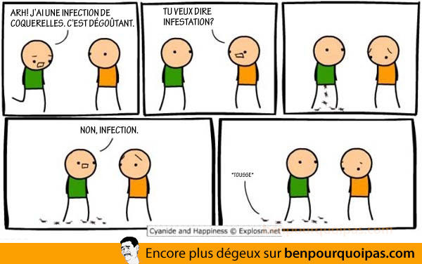 Cyanide and Happiness en français: infection de coquerelles