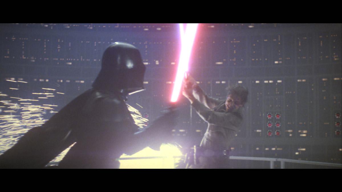 Duel entre Luke Skywalker et Darth VAder