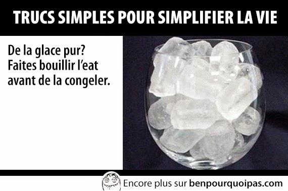 De la glace pur? Faites bouillir l'eau avant de la congeler.