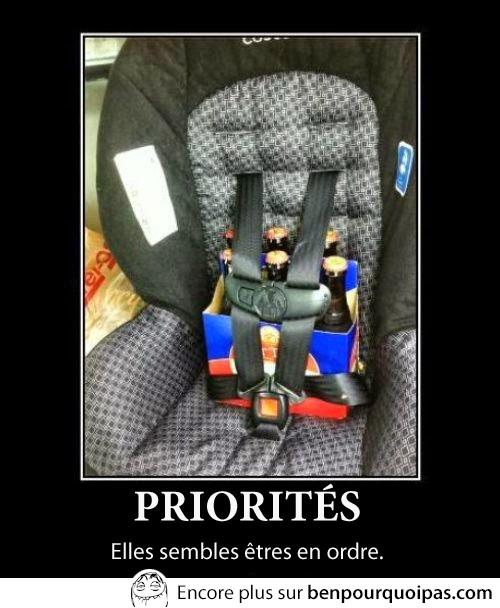 priorités bien en ordre