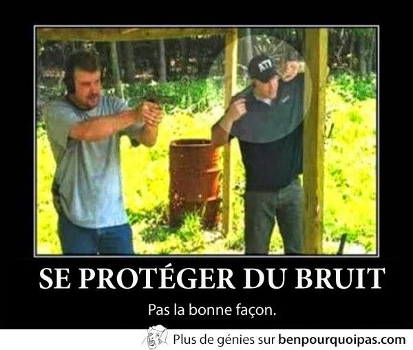 Se protéger du bruit avec un fusils