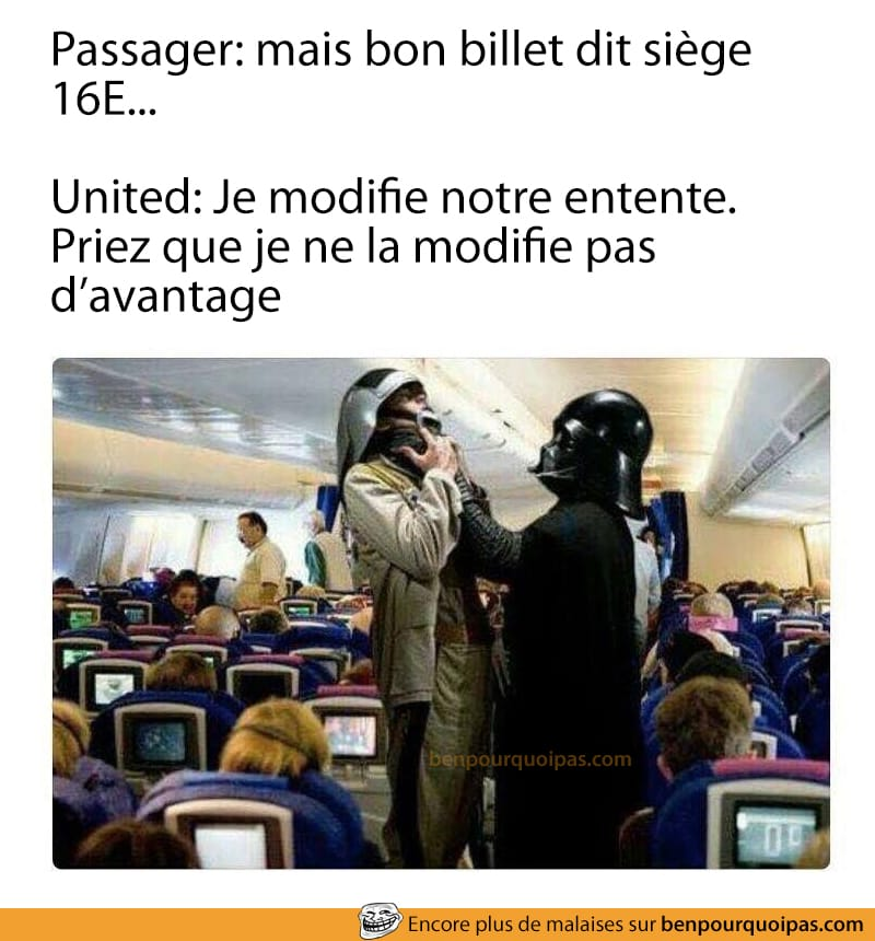 Nouvel employé United Airline qui sors les passagers