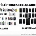 Téléphones cellulaires: avant vs maintenant