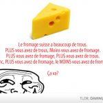 Philosopher sur le fromage suisse