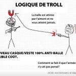 Logique de troll, casque pare-balles