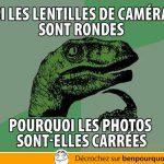 Philosoraptor: les lentilles de caméra