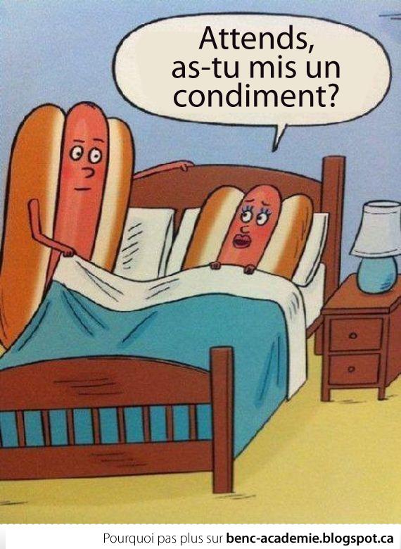 Deux hot dogs avant de faire l'amour