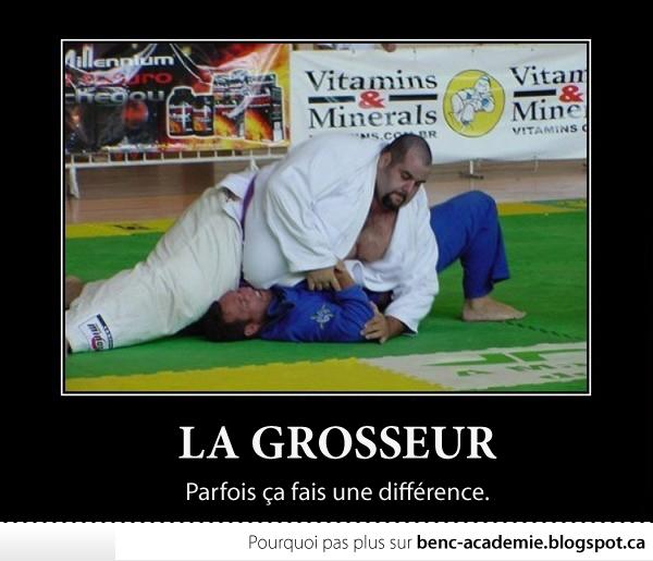 art martiaux, écrasé par un poids lourd