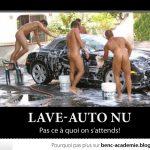 Lave-auto nu, pas ce à quoi on s'attends (pour les médames)