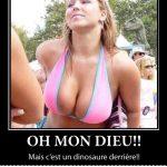 Mon Dieu!! Mais c'est un dinosaure