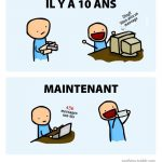 Messages, il y a 10 ans vs maintenant