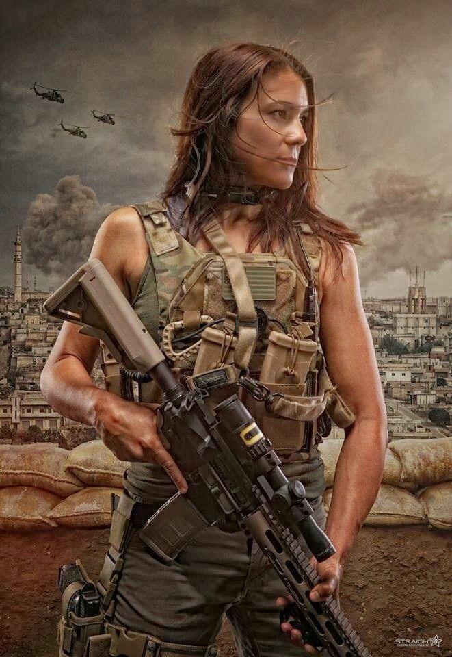 badass soldier woman