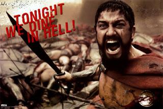 300 Leonidas we dine in hell