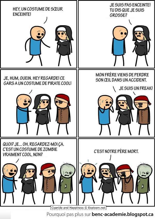 cyanide and happiness en francais - les costumes