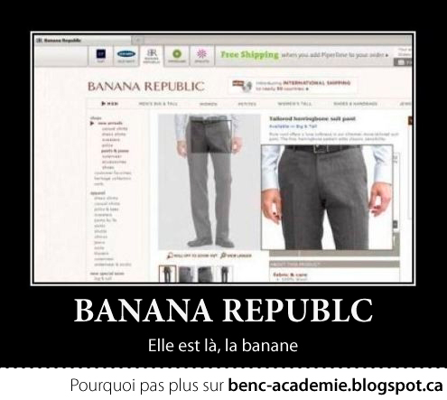 Banana Republic, on a trouvé la banane!
