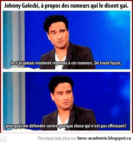 Johnny Galecki gai
