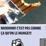 Chocolat Kit-kat, c'est pas comme ça qu'on le mange