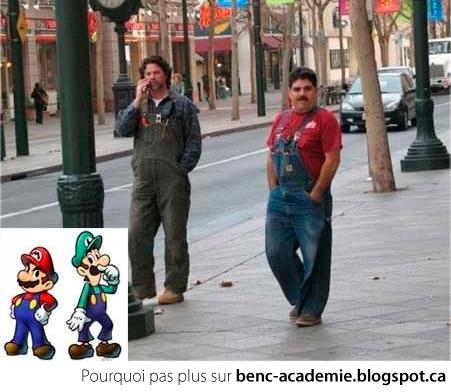 Mario et Luigi de Super Mario Bros dans la vrai vie