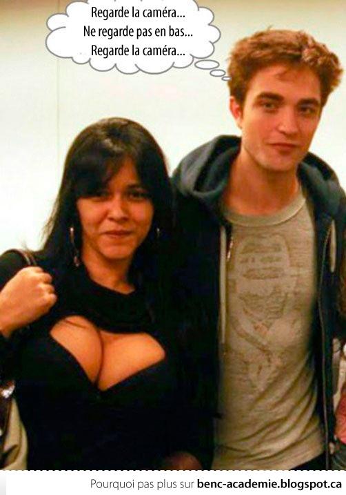 Robert Pattinson et le décolleté...