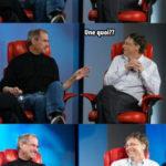 Steve Jobs et Bill Gates: la pièce de monnaie