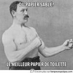 Du papier sablé? Le meilleur papier de toilette!
