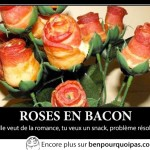 Des roses en bacon