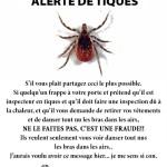 Alerte de tiques