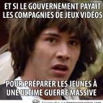 Le gouvernement derrière les jeux vidéos…