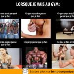 Lorsque je vais au gym: ce qu'ils pensent