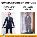 Quand je porte un costume, ce que je crois vs ce qui est réellement