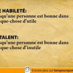 Différence entre une habileté et un talent