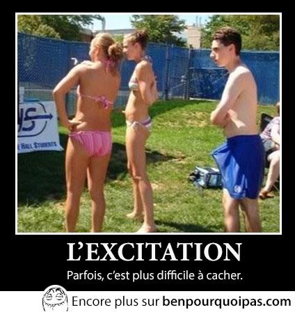 erection devant deux filles en bikini