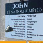 John et sa roche météo, méthode infaillible pour connaître la météo