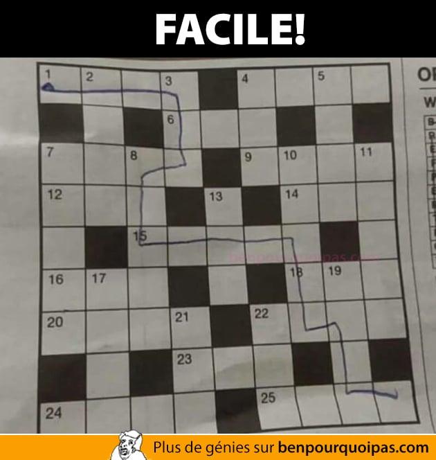 Les jeux dans les journaux c'est facile!
