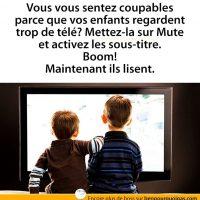 Solution pour ces enfants qui regardent trop la télé