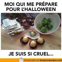 Préparation cruelle pour l'halloween