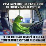 Habitudes en voiture lors de la période hivernale