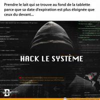 Hack le système... à l'épicerie