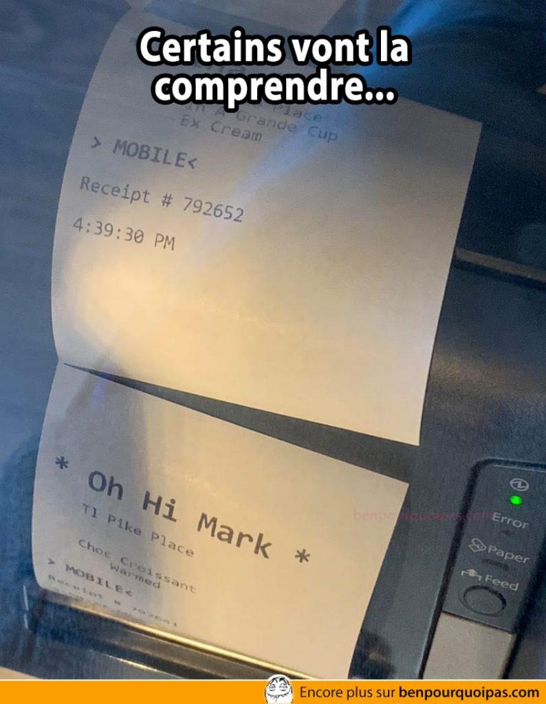 Oh Hi Mark (certains vont la comprendre...)