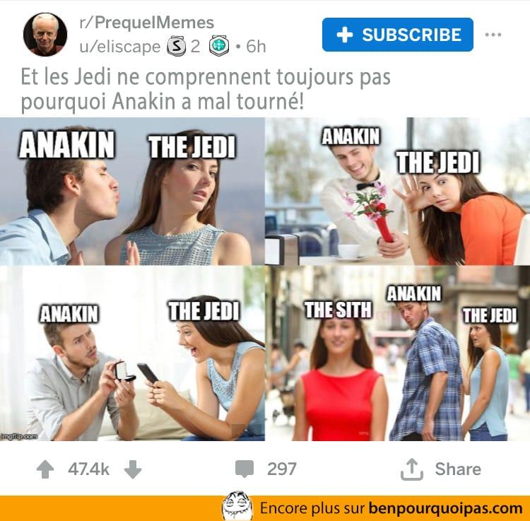 Anakin et l'explication de son revirement vers les Sith