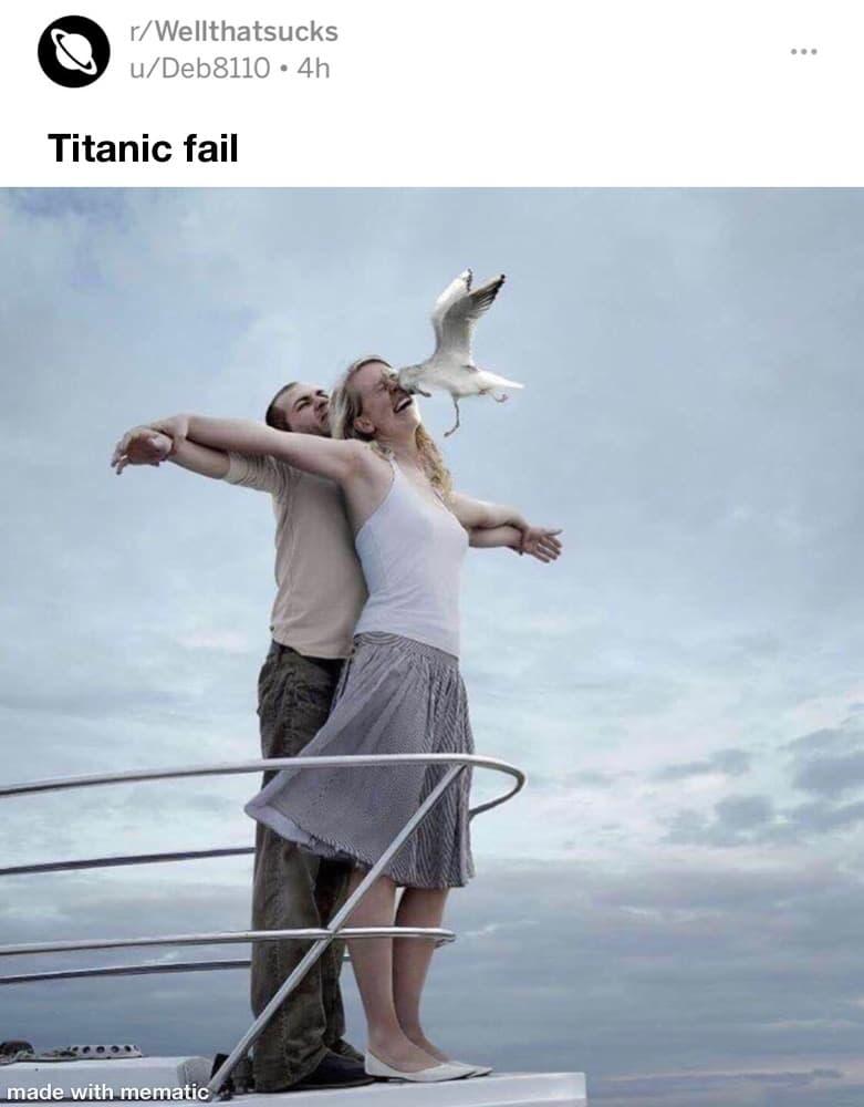 Quand tu veux recréer le scène du Titanic