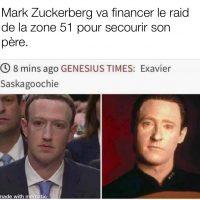 Mark Zuckerberg finance le raid pour la zone 51 pour libérer son père