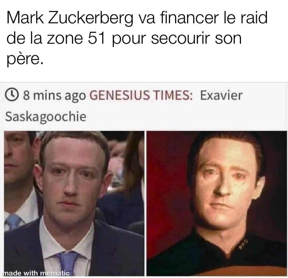 Mark Zuckerberg ressemble a data de star trek