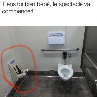 Toilette avec une vue superbe pour votre bébé