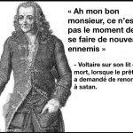 Voltaire, ce n'est pas un moment pour se faire de nouveaux ennemis…