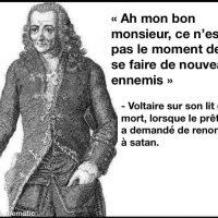 Voltaire, ce n'est pas un moment pour se faire de nouveaux ennemis...