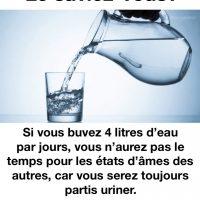 Le saviez-vous, boire de l'eau est important...