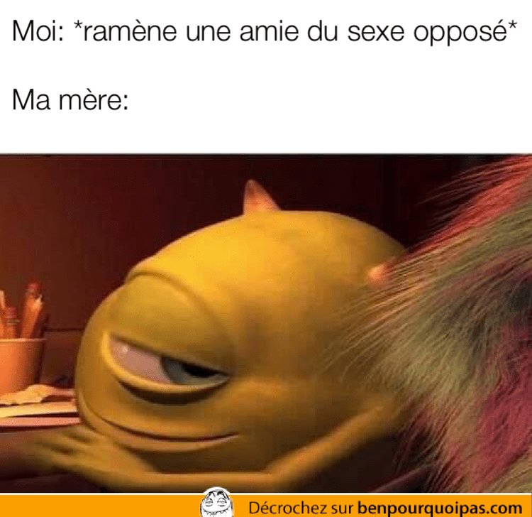 Mike monster inc lance un regard complice